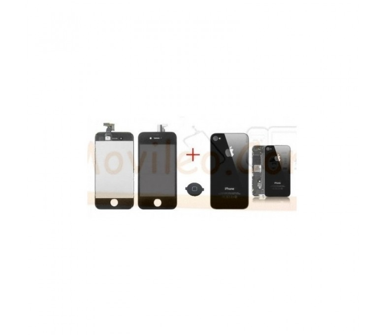 Kit Completo Negro iPhone 4S  Pantalla + Tapa + Boton Home - Imagen 1