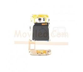 Carcasa Intermedia Chasis para Samsung Galaxy S6 Edge G925 G925F Dorada - Imagen 1