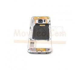 Carcasa Intermedia Chasis para Samsung Galaxy S6 Edge G925 G925F Negro - Imagen 1
