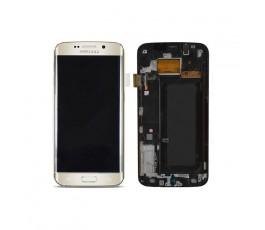 Pantalla Completa Con Marco para Samsung Galaxy S6 Edge G925 Dorada - Imagen 1
