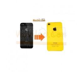 CAMBIAR TAPA TRASERA IPHONE 4G/S AMARILLO - Imagen 1