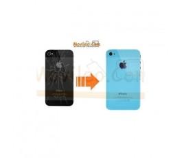 CAMBIAR TAPA TRASERA IPHONE 4G/S AZUL CLARITO - Imagen 1