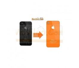 CAMBIAR TAPA TRASERA IPHONE 4G/S NARANJA - Imagen 1