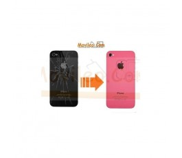 CAMBIAR TAPA TRASERA IPHONE 4G/S ROSA - Imagen 1