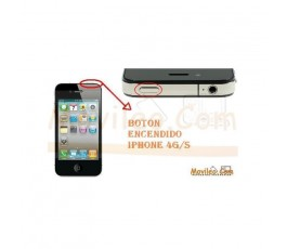 CAMBIAR BOTON ENCENDIDO IPHONE 4G 4S - Imagen 1