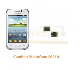 Cambiar Microfono Samsung Galaxy Young S6310 - Imagen 1