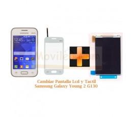 Cambiar Pantalla Tactil + Lcd Samsung Galaxy Young 2 G130 - Imagen 1