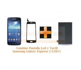 Cambiar Pantalla Lcd + Tactil Samsung Galaxy Express 2 G3815 - Imagen 1