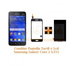Cambiar Pantalla Tactil + Lcd Display Samsung Galaxy Core 2 G355 - Imagen 1