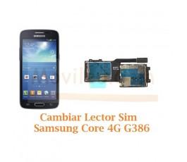 Cambiar Lector Sim Samsung Galaxy Core 4G G386F - Imagen 1