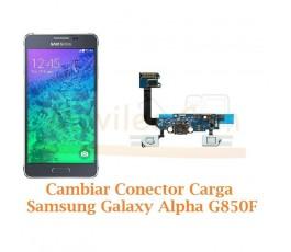 Cambiar Conector Carga Samsung Galaxy Alpha G850F - Imagen 1