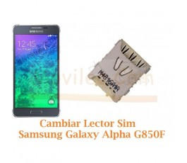Cambiar Lector Tarjeta Sim Samsung Galaxy Alpha G850F - Imagen 1