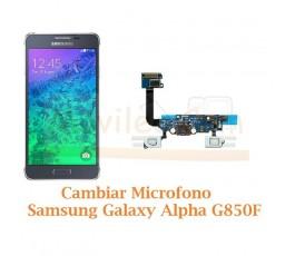 Cambiar Microfono Samsung Galaxy Alpha G850F - Imagen 1