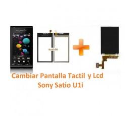 Cambiar Pantalla Táctil y Lcd Display Sony Ericsson Satio U1i - Imagen 1