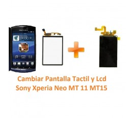 Cambiar Pantalla Táctil y Lcd Sony Xperia Neo MT11 MT15 - Imagen 1