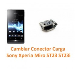 Cambiar Conector Carga Sony Xperia Miro ST23 ST23i - Imagen 1