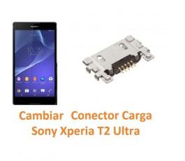 Cambiar Conector Carga Sony Xperia T2 Ultra XM50h D5303 D5306 D5322 - Imagen 1