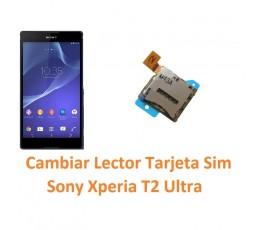 Cambiar Lector Tarjeta Sim Sony Xperia T2 Ultra XM50h D5303 D5306 D5322 - Imagen 1