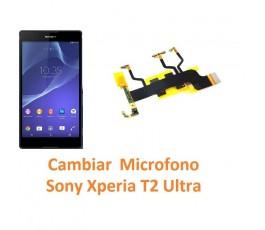 Cambiar Micrófono Sony Xperia T2 Ultra XM50h D5303 D5306 D5322 - Imagen 1