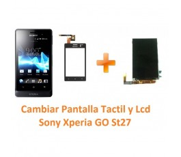 Cambiar Pantalla Lcd y Táctil Sony Xperia Go St27 St27i - Imagen 1
