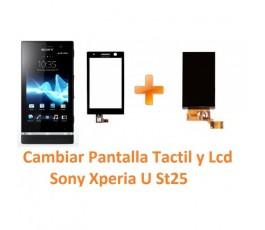 Cambiar Pantalla Táctil Digitalizador y Lcd Display Sony Xperia U St25 - Imagen 1