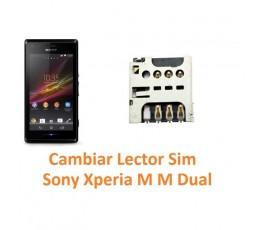 Cambiar Lector Tarjeta Sim Sony Xperia M M Dual C1904 C1905 C2004 C2005 - Imagen 1