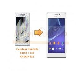Cambiar Pantalla Tactil y Lcd para Sony Xperia M2 S50H D2303 D2305 D2306 M2 Aqua - Imagen 1