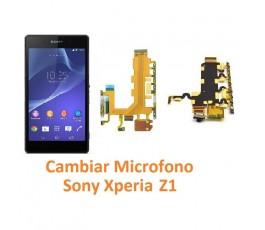Cambiar Micrófono Sony Xperia Z1 L39H L39T C6902 C6903 C6906 C6916 C6943 - Imagen 1