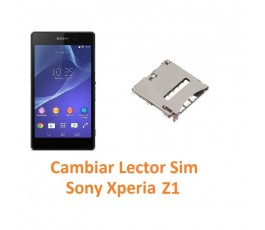 Cambiar Lector Tarjeta Sim Sony Xperia Z1 L39H L39T C6902 C6903 C6906 C6916 C6943 - Imagen 1