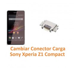 Cambiar Conector Carga Sony Xperia Z1 Compact M51W D5503 Z1C - Imagen 1
