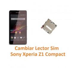 Cambiar Lector Tarjeta Sim Sony Xperia Z1 Compact M51W D5503 Z1C - Imagen 1