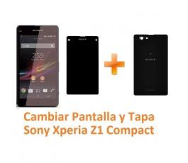 Cambiar Pantalla Completa y Tapa Trasera Sony Xperia Z1 Compact M51W D5503 Z1C - Imagen 1