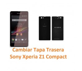 Cambiar Tapa Trasera Sony Xperia Z1 Compact M51W D5503 Z1C - Imagen 1
