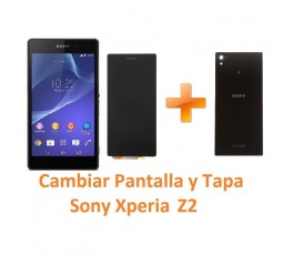 Cambiar Pantalla Completa y Tapa Trasera Sony Xperia Z2 L50W D6502 D6503 D6543 - Imagen 1