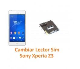 Cambiar Lector Tarjeta Sim Sony Xperia Z3 L55T D6603 D6643 D6653 - Imagen 1