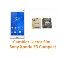 Cambiar Lector Sim Sony Xperia Z3 Compact Z3C - Imagen 1
