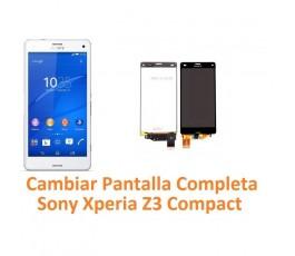Cambiar Pantalla Completa Táctil y Lcd Sony Xperia Z3 Compact Z3C - Imagen 1