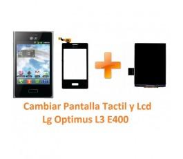 Cambiar Pantalla Táctil y Lcd Lg Optimus L3 E400 - Imagen 1