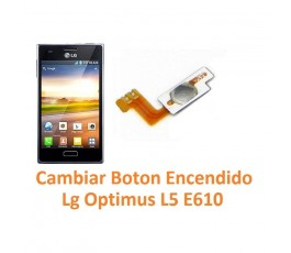 Cambiar Botón Encendido Lg Optimus L5 E610 - Imagen 1