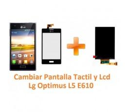 Cambiar Pantalla Tactil y Lcd Lg Optimus L5 E610 - Imagen 1