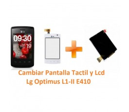 Cambiar Pantalla Táctil y Lcd Lg Optimus L1-II E410 - Imagen 1
