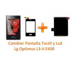 Cambiar Pantalla Táctil y Lcd Lg Optimus L3-II E430 - Imagen 1