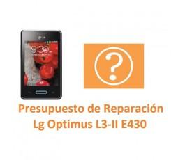 Presupuesto de Reparación Lg Optimus L3-II E430 - Imagen 1
