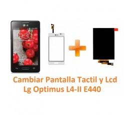 Cambiar Pantalla Lcd y Táctil para Lg Optimus L4-II E440 - Imagen 1