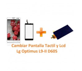 Cambiar Pantalla Táctil y Lcd Lg Optimus L9-II D605 - Imagen 1