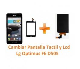 Cambiar Pantalla Táctil y Lcd Lg Optimus F6 D505 - Imagen 1