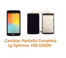 Cambiar Pantalla Completa Con Marco Lg Optimus F60 D390N - Imagen 1