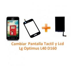 Cambiar Pantalla Táctil y Lcd Lg Optimus L40 D160 - Imagen 1
