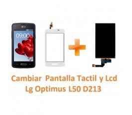 Cambiar Pantalla Táctil y Lcd Lg Optimus L50 D213 - Imagen 1
