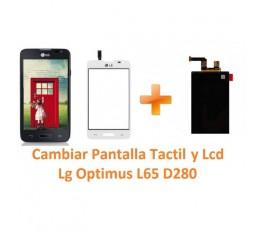Cambiar Pantalla Táctil y Lcd Lg Optimus L65 D280 - Imagen 1